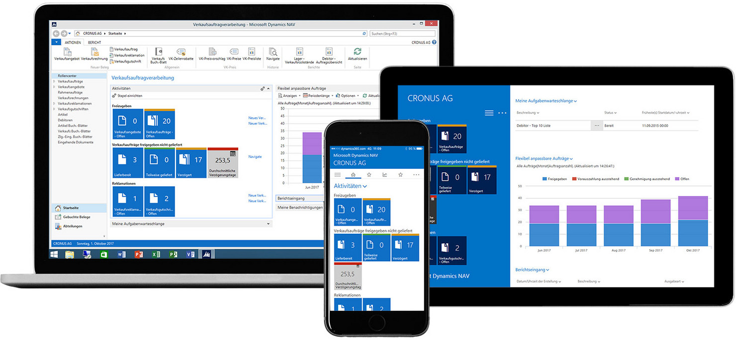 Microsoft Dynamics can be used on all electronical devices, like: PC, MAC, Tablets or Smartphones!