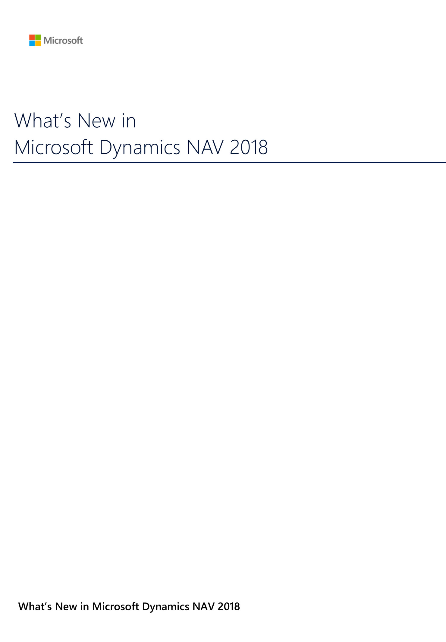 New ERP version: Microsoft Dynamics NAV 2018 officially launched