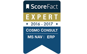 ScoreFact Label for COSMO CONSULT