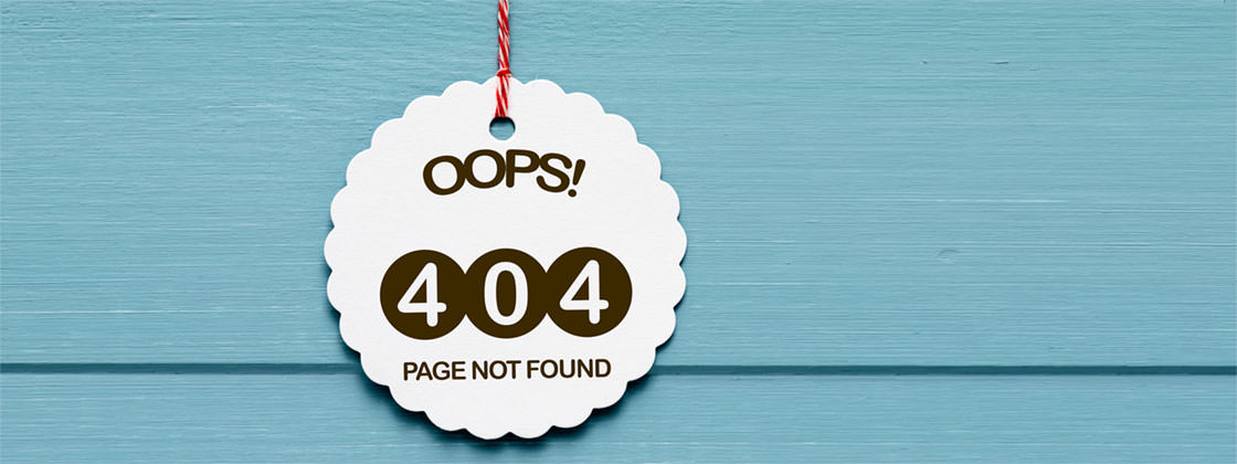 Page not found - 404 error symbol