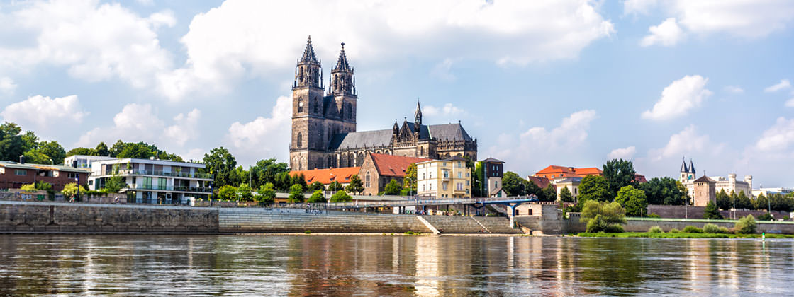 Our location in Magdeburg - View on Magdeburg Cathedral