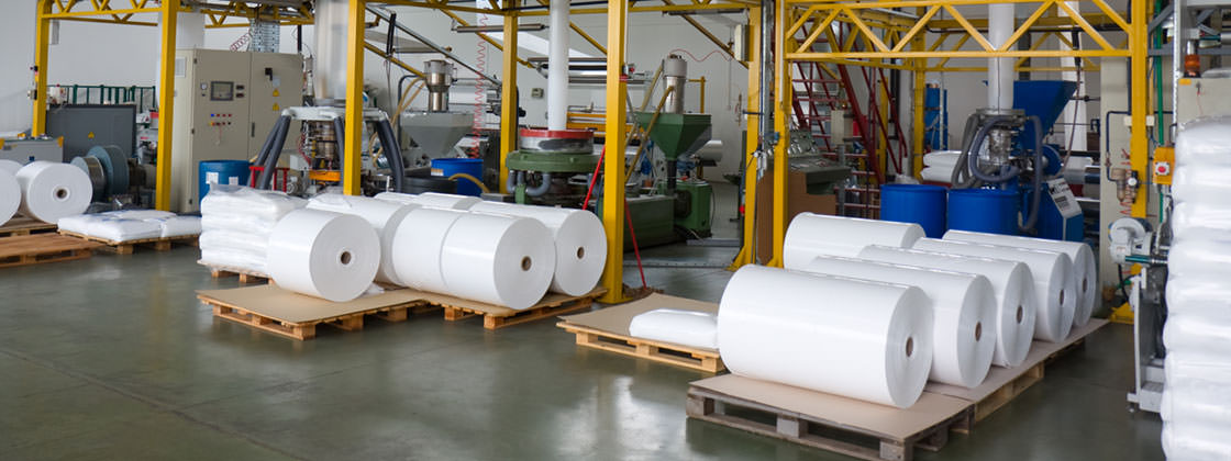 Digital solution for the foil production industry - Rolled plastic foil in warehouse