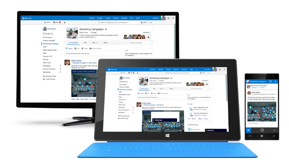 Cross-device usage of the Microsoft collaboration tools - COSMO CONSULT